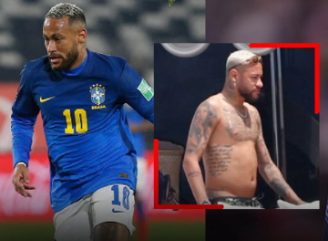 Neymar reacts to the media with pictures